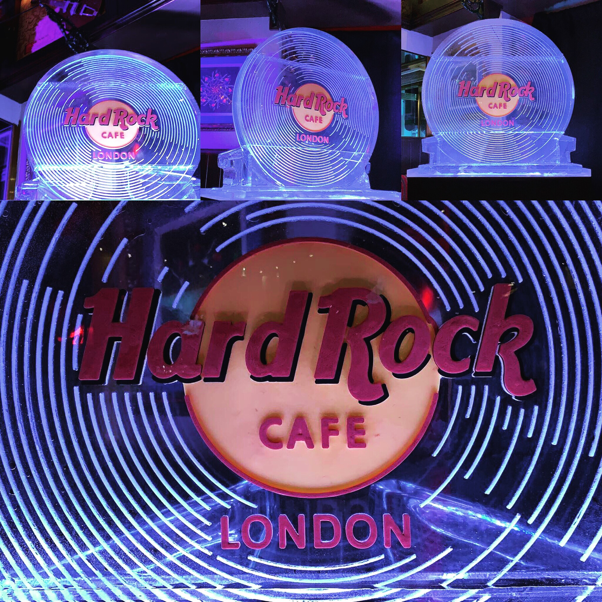 hard rock cafe VINYL ICE SCULPTURE