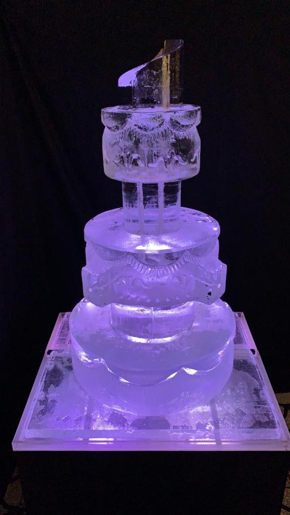 Wedding Cake Ice Sculpture PSD Ice Art
