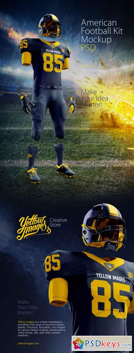Download American Football Kit Mockup 632398 » Free Download ...