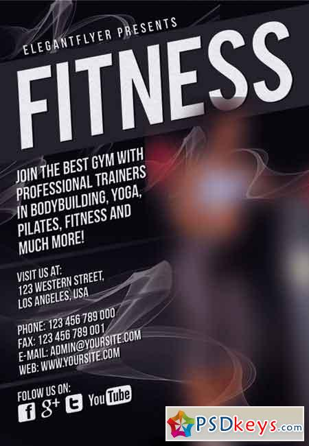 Fitness Gym Flyer PSD Template Facebook Cover Free Download Photoshop Vector Stock Image Via