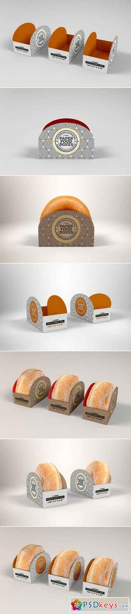 Download Single Donut Box Packaging Mockup » Free Download ...