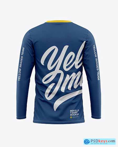 To use these psd template you need adobe photoshop. Men S Long Sleeve T Shirt Mockup Back View 50482