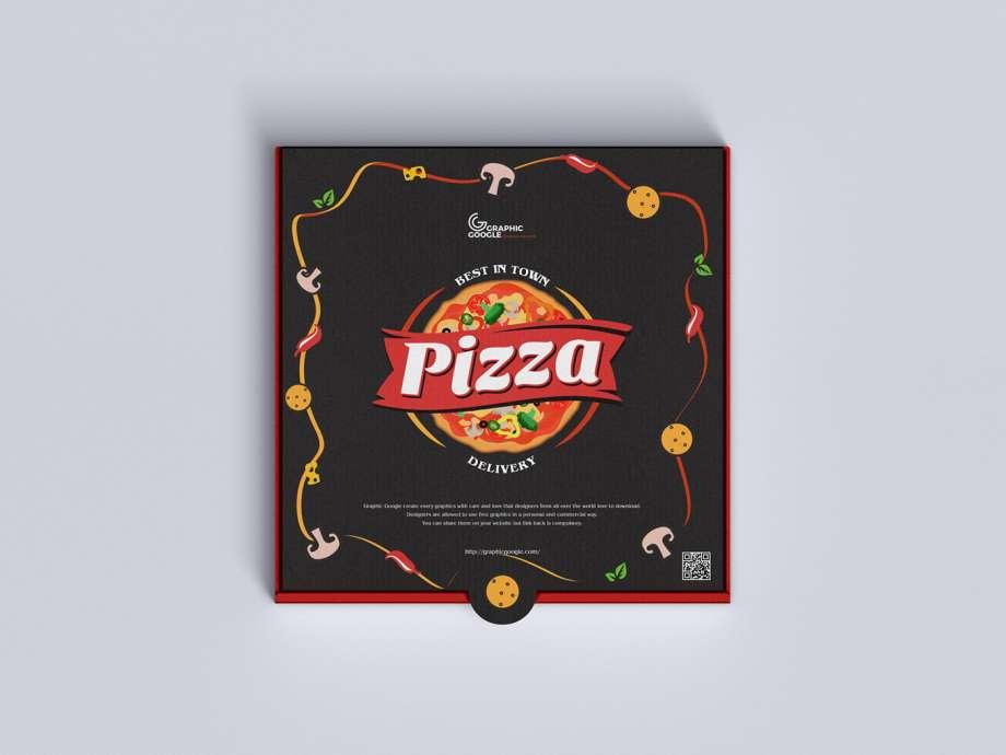 Download Free Top View Pizza Box Mockup - PSDKits