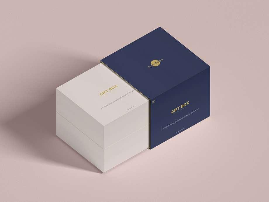 Download Free Gift Box Mockup (PSD) - PSDKits