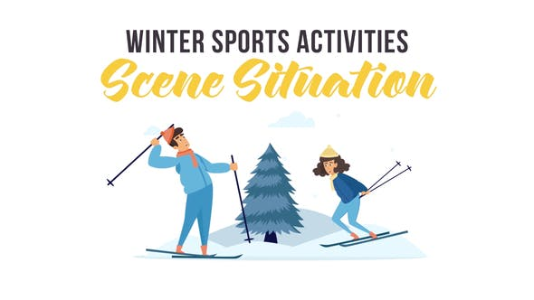 Videohive Winter sports activities - Scene Situation 29247091