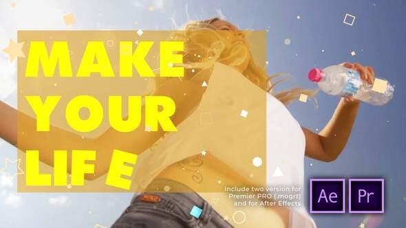 Videohive - 100 Shots of Summer Typography Kinetic Slideshow - 29360617