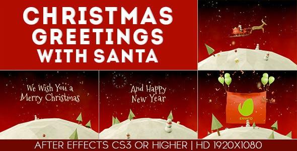 Videohive Christmas Greetings with santa 9456839