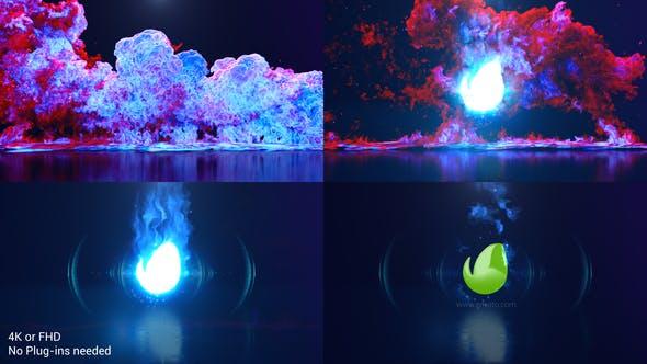 Videohive Color Smoke Explosion Logo 29218057