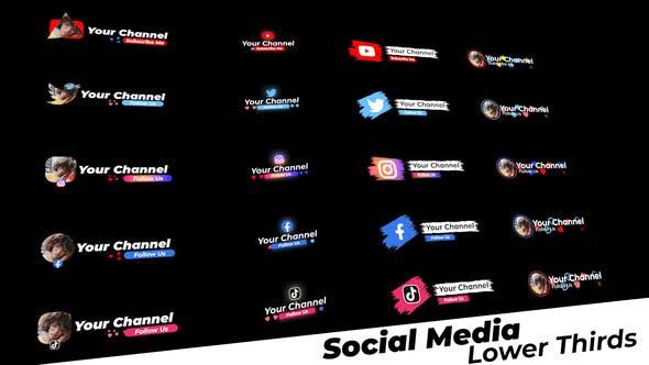 Videohive Social Media Lower Thirds 28788389