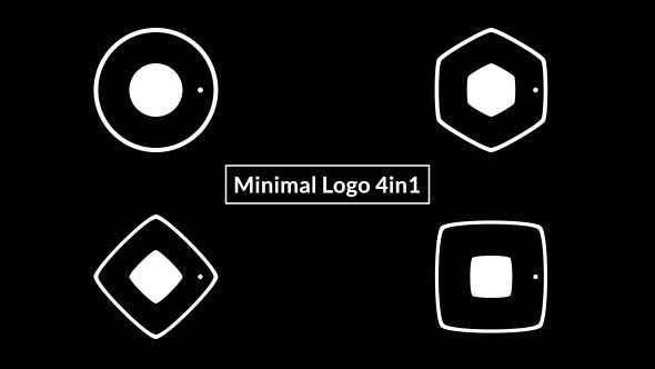 Videohive Minimal Logo 4in1 19589043