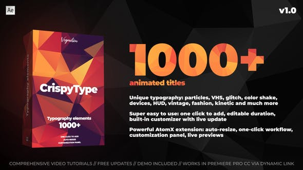Videohive 1000+ Titles And Typography 28464847
