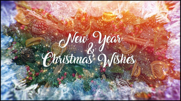 Videohive Christmas and New Year Wishes 23035677