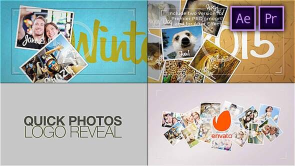 Videohive - Quick Photos. Photographer Logo Reveal - 29169646