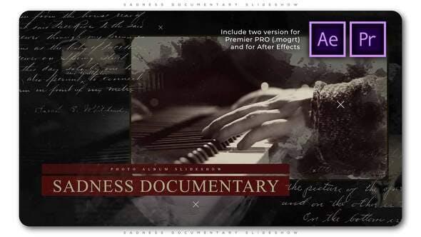 Videohive - Sadness Documentary Slideshow - 28805795