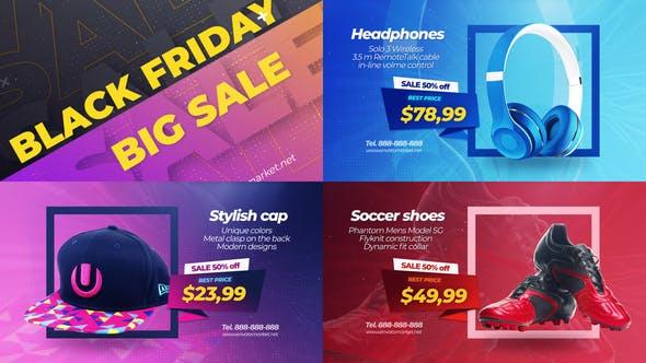 Videohive Black Friday Sale Promo Slideshow 29350113