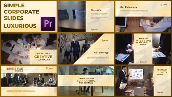 Videohive Simple Corporate Slides Luxurious Premiere Pro 28915110