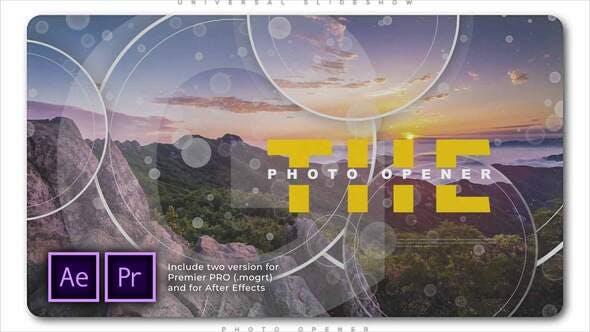 Videohive - Universal Slideshow Photo Opener - 28805774