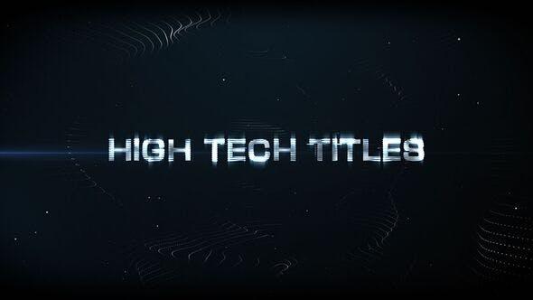 Videohive High Tech Titles & Logo 4158800