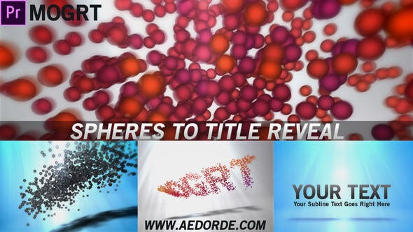 Videohive - Spheres To Title Reveal (Mogrt) - 27683172