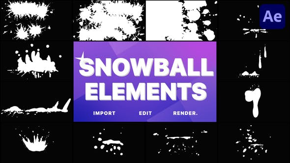 Videohive Snowball Elements | After Effects 29648320