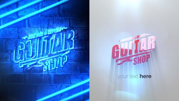 Videohive Grunge Neon Logo Reveal 29410714