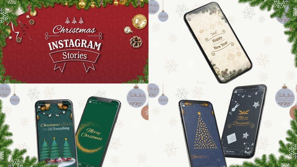 Videohive Christmas Instagram Stories for After Effects 29707215