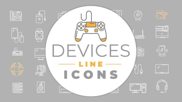 Videohive Devices Icons 29563940
