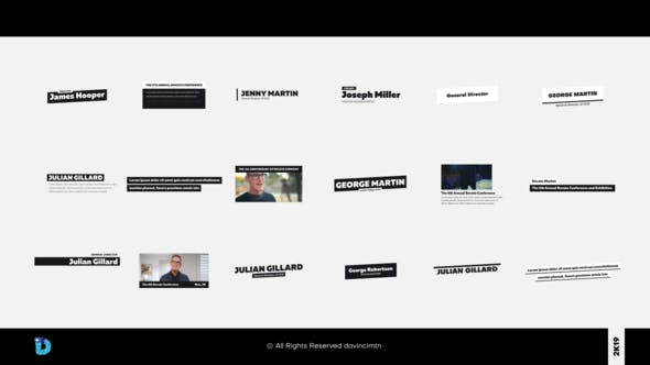 Videohive Clean Lower Thirds 23330184