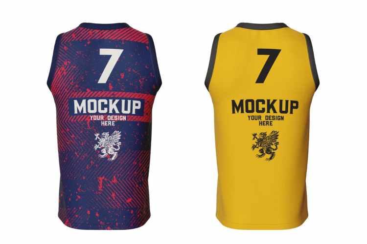 Basketball Jersey Mockup. Back Side TTM9RTS