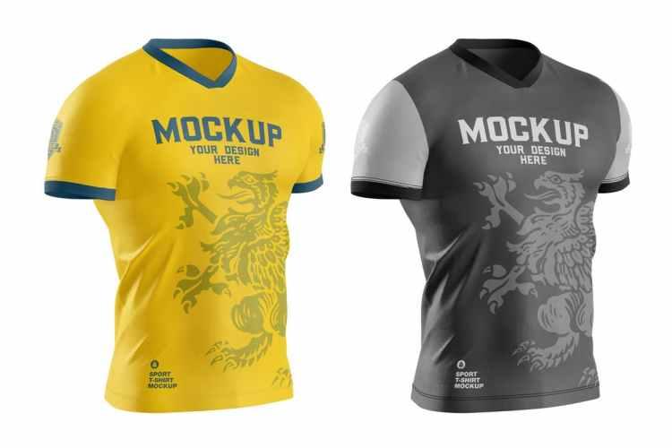 Men's Sports T-shirt Mockup 3YXGHQP