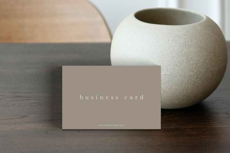 Business Card Mockup #14 KUYJN7M