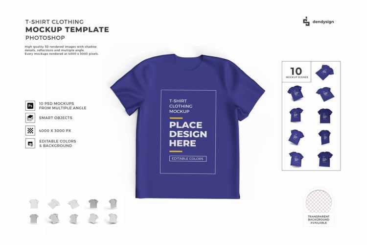 Tshirt Cloth Mockup Template Set