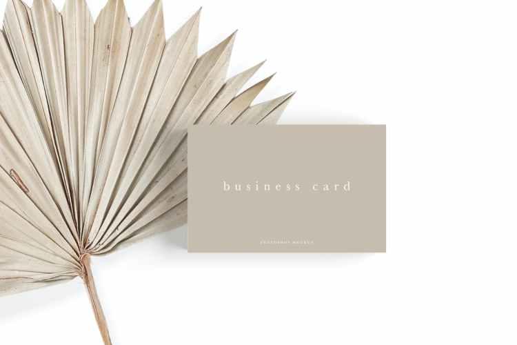 Business Card Mockup #24 WYLATYQ