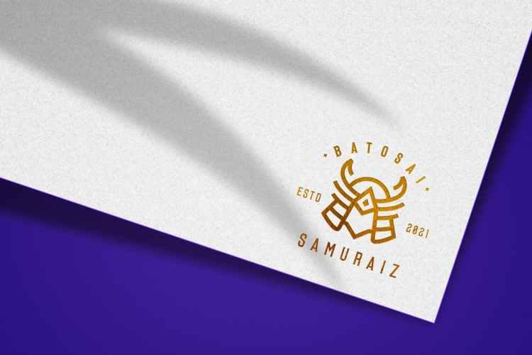 luxury gold logo mockup XJFYBFK