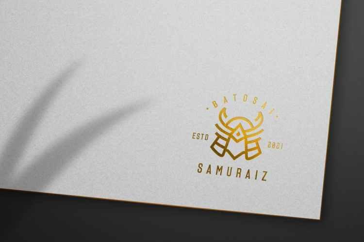 Gold Luxury Logo Mockup 3FEZLQW