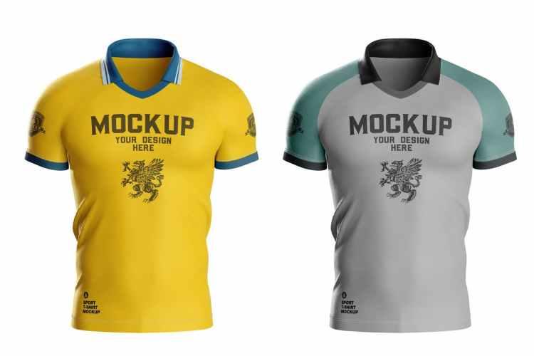 Men's Sports T-shirt Mockup LVSS4XS