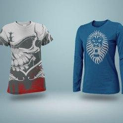 Free Realistic Long Sleeve T-Shirt Mockup PSD
