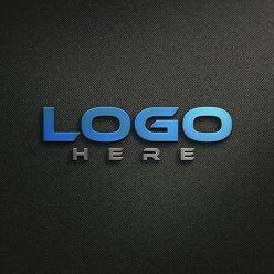 Metallic Logo Mockup Free Download