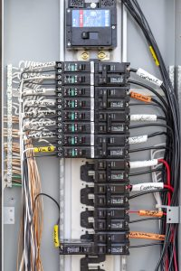 P.S. Electric, Inc. - Electrician Professionally Wired Circuit Breaker Board