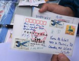 The postcard I sent myself. More than a week later it still hasn't arrived.