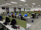 This is half of the work area of the Media Center.