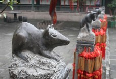A statue for the year of the rat, one of 12 such pieces of art in this courtyard at the Wall.