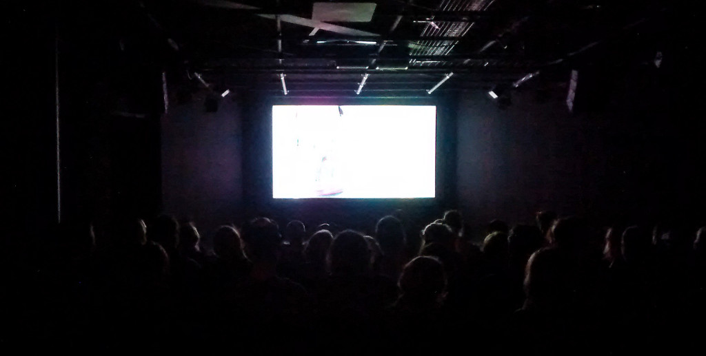 PSFN audience enjoying a film in 3S Artspace