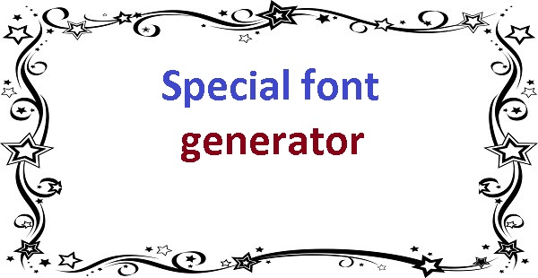 Special font generator