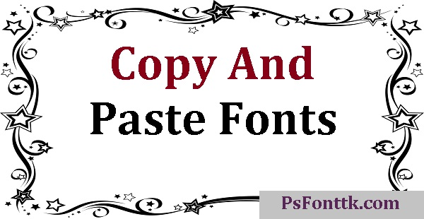 Copy And Paste Fonts