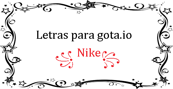 Letras para gota.io nick