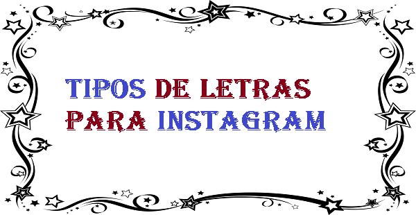 Tipos de letras para instagram