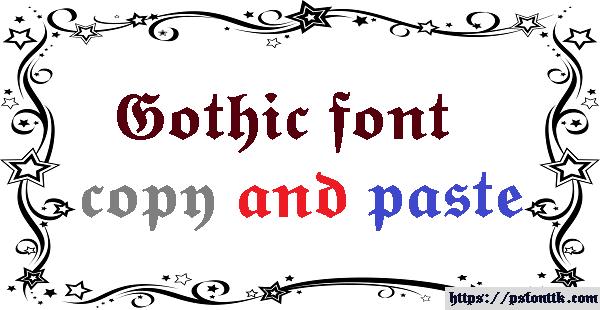 Gothic Font Generator