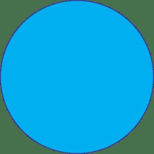 Emoji círculo azul PNG