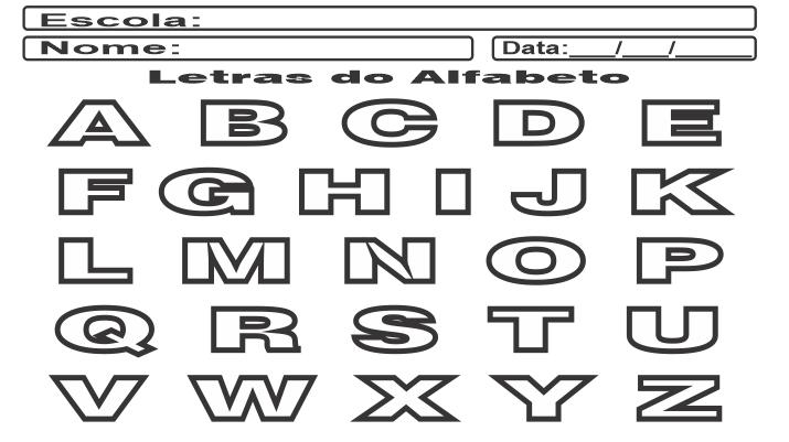Alfabeto para Imprimir modo paisagem